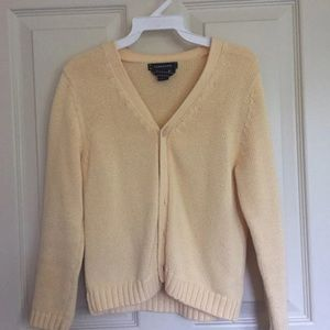 Yellow Lands End Cardigan